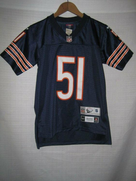 the best attitude ce56a fd970 Chicago Bears Dick Butkus Reebok Football Jersey Kids Boys S 8 SEWN