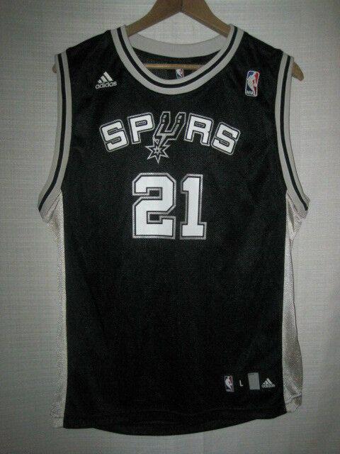 buy online 59036 0d2bc San Antonio Spurs Tim Duncan Adidas Basketball Jersey kids boys L black