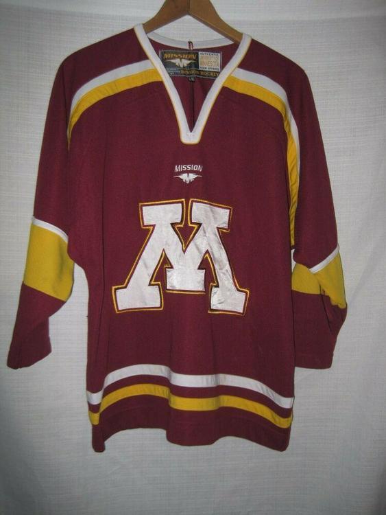 quality design bdbca 4f5fa Minnesota Golden Gophers Hockey Jersey kids boys L/XL Maroon Mission