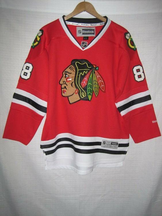 cheap for discount 7c5c3 43960 Chicago Blackhawks Patrick Kane Reebok Hockey Jersey Kids Boys L/XL Red SEWN