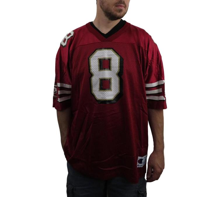 best service 66343 c6688 Champion Mens Steve Young San Francisco 49ers NFL Jersey Size 48 XL  Football EUC Maroon Authentic