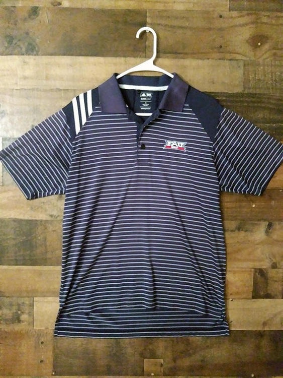 buy online 819b6 d24bc Adidas Climacool NCAA College FAU FLORIDA STATE UNIVERSITY OWLS Polyester  Embroidered Polo Shirt