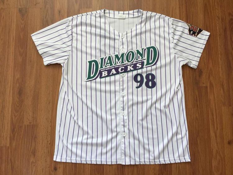 the best attitude 7ac4a 4127e Arizona Diamondbacks DBACKS MLB 20TH Anniversary Size XL SGA Baseball  Jersey!
