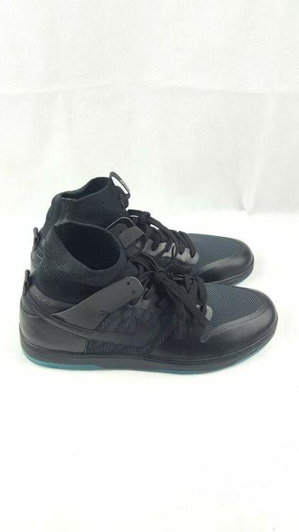 new styles 7a17c 98295 Nike SB Dunk High Elite Skate Black Atomic Teal Green 917567-003 Mens Size  10
