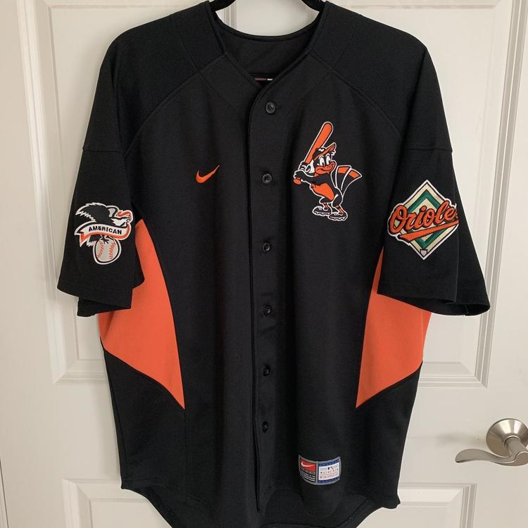 on sale 75d59 cbfb4 Nike Team MLB Baltimore Orioles Stitched Black Jersey Size Medium