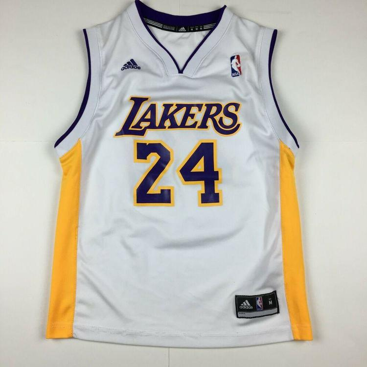 newest 48bb3 1814b adidas Kobe Bryant Los Angeles Lakers Basketball Jersey NBA  White/Gold/Purple M
