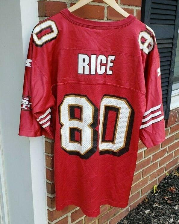 timeless design 8e202 68570 VTG San Francisco 49ers Jerry Rice Starter Jersey 48 L #80 Niners 1990s
