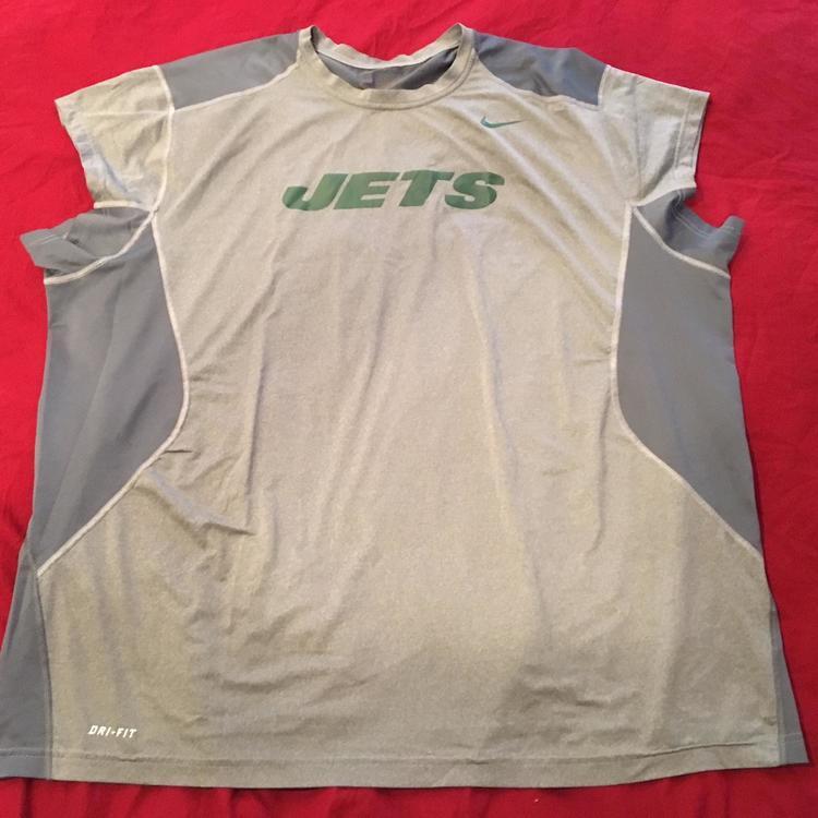quality design 025b1 9b2ce New York Jets Team Issued Used 4XL XXXXL Nike Compression Sleeveless Adult  RARE!
