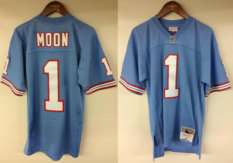 huge selection of f386a 72ce3 Warren Moon Houston Oilers #1 Mitchell & Ness NFL 1993 Authentic Jersey