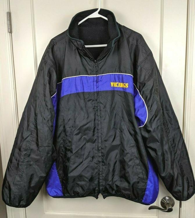 huge discount 8d1fe 75e85 Minnesota Vikings NFL Reversible Winter Jacket Coat Fleece/Nylon Adult  Size: XL