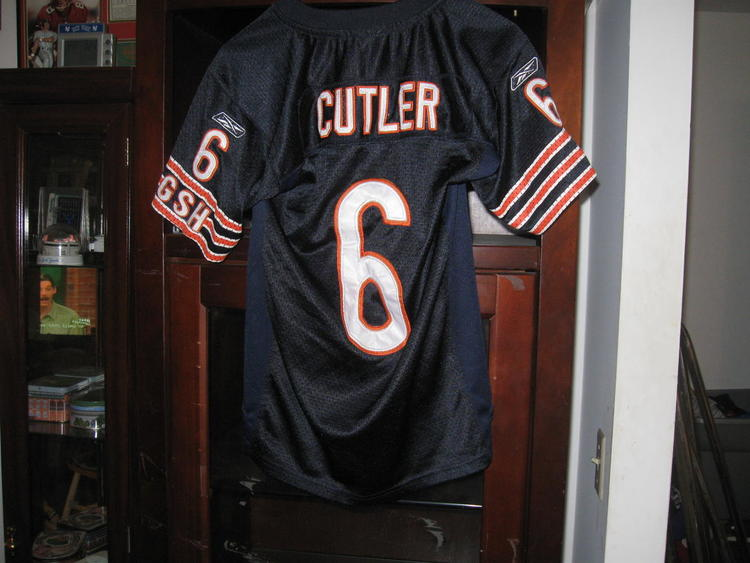 competitive price 5e164 b9ae6 BEARS JAY CUTLER AUTHENTIC YOUTH HOME JERSEY( L)EMBRIODED!