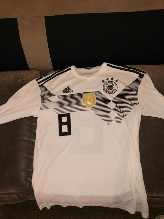new concept c5040 eb12a Toni Kroos rarely worn long sleeve Germany World Cup Adidas Jersey