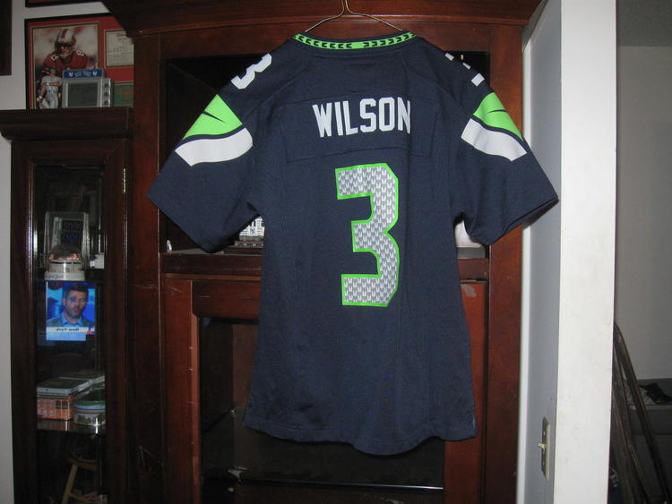 info for 4bfc8 71ea1 SEAHAWKS RUSSELL WILSON YOUTH HOME JERSEY(M)