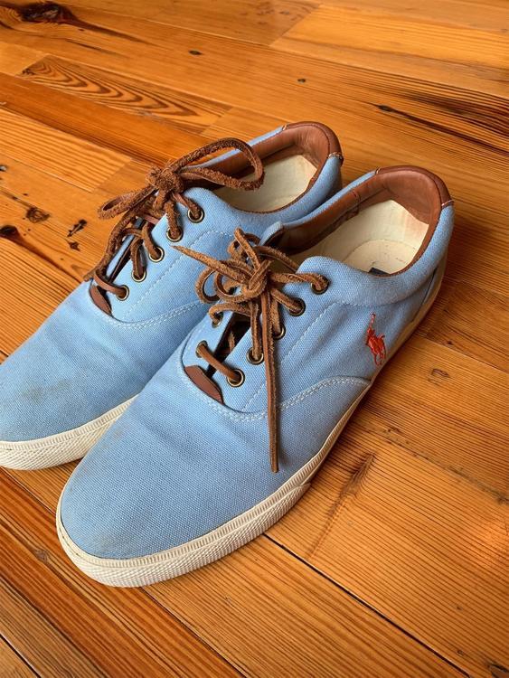 Polo Blue Ralph Lauren Canvas Shoes