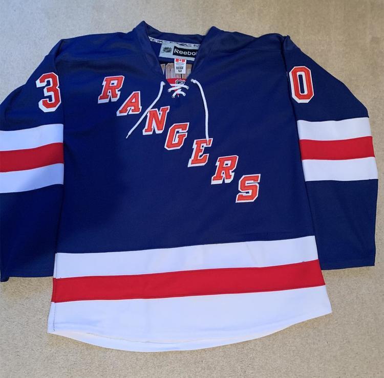 timeless design 961d4 88327 New York Rangers Lundqvist Reebok Jersey