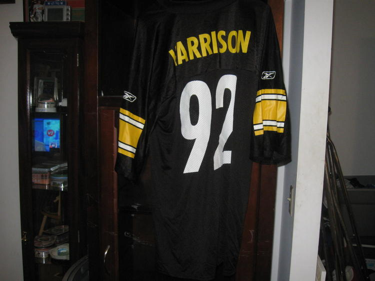 promo code 61fa4 7d561 STEELERS JAMES HARRISON HOME JERSEY(L)