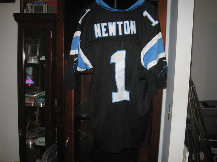 outlet store e9ebe ac107 PANTHERS CAM NEWTON AUTHENTIC HOME JERSEY(44)EMBRIODED!