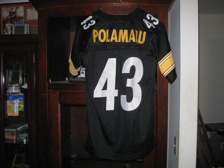 new concept c8d42 f6e23 STEELERS TROY POLOAMALU AUTHENTIC YOUTH HOME JERSEY(M 10/12)EMBRIODED!