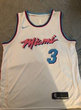 new arrival 68d3a a921c Miami Heat Dwayne Wade Miami Vice Jersey Size Large
