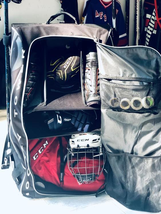 Grit Htse Hockey Tower 36 Wheeled Equipment Gear Bag Black White
