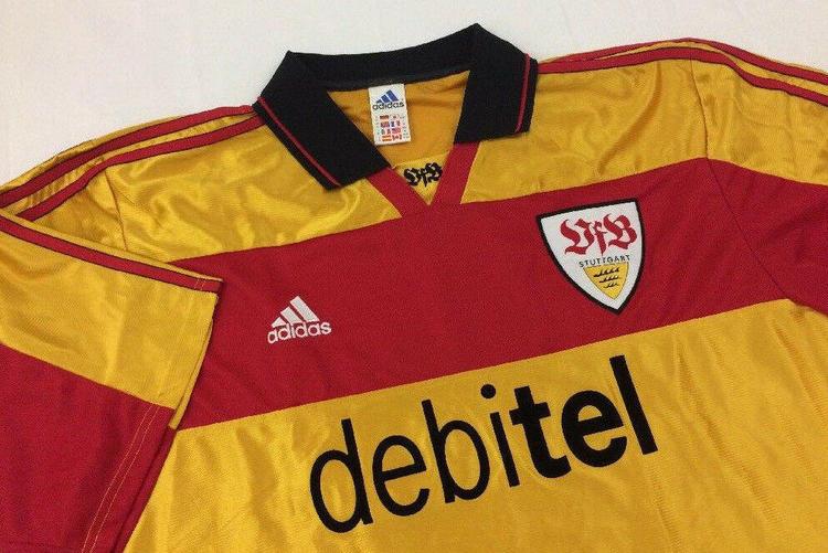 brand new 7de51 956d8 VFB STUTTGART adidas vtg football shirt jersey trikot away gold yellow  soccer
