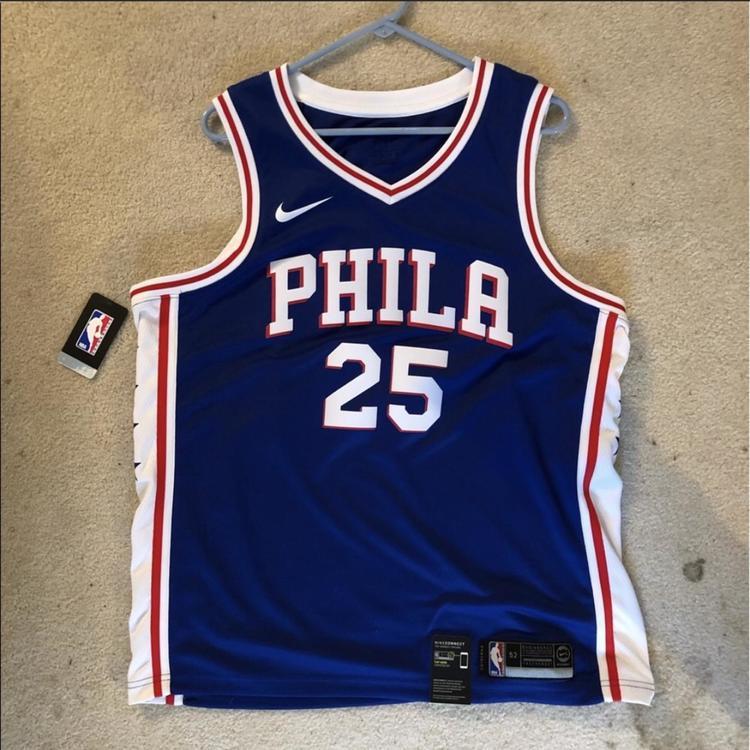 timeless design 08485 b7d24 New Nike 76ers Ben Simmons Jersey