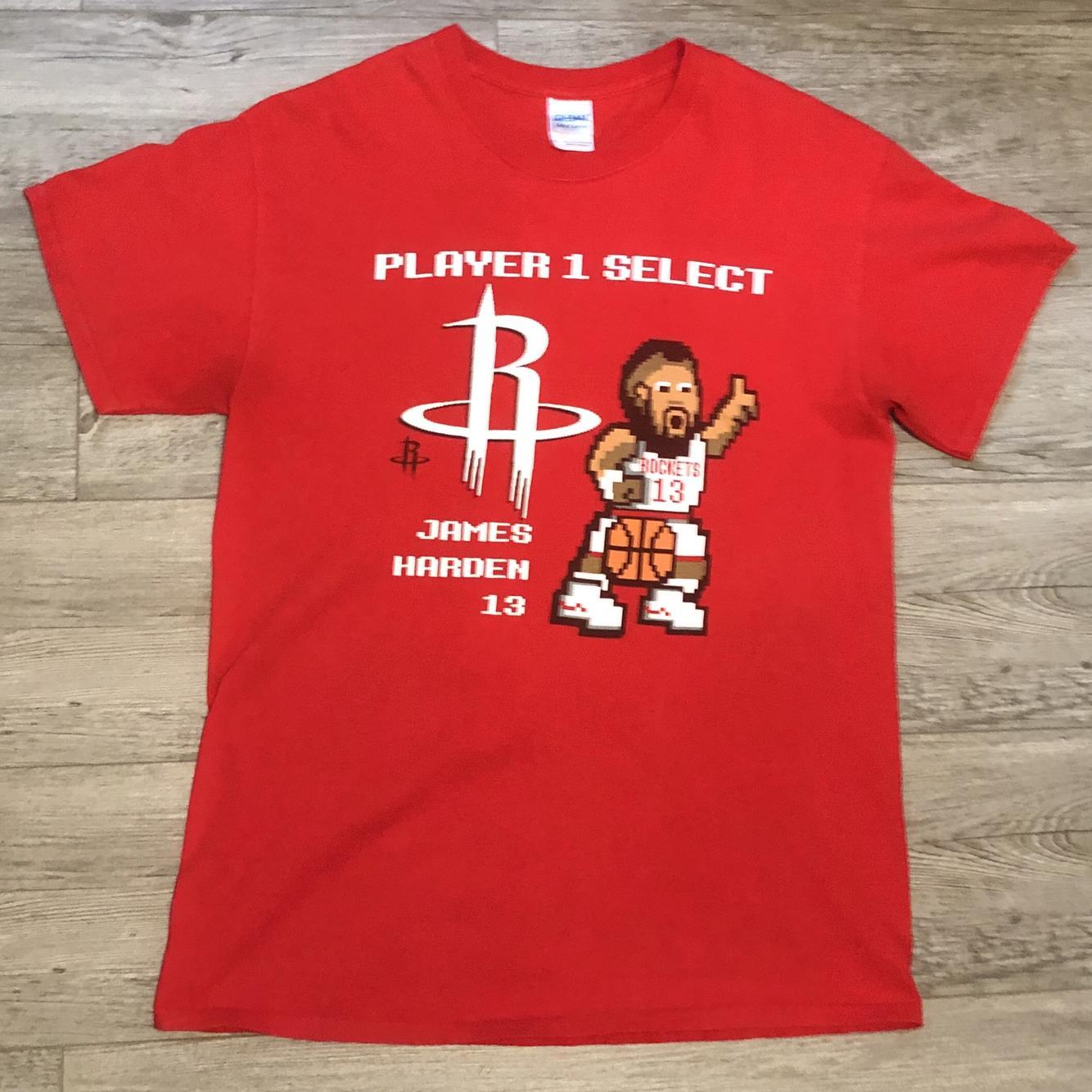 Adidas Men S James Harden Logo Shirt Size L Basketball Apparel Jerseys