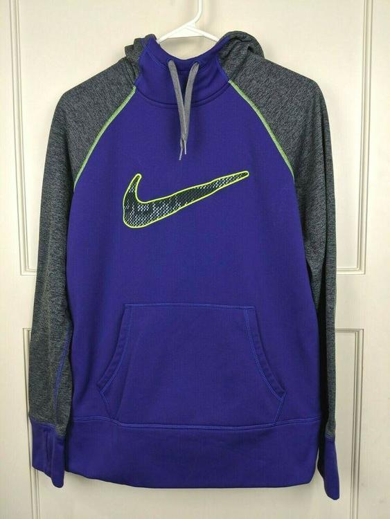 Nike Therma Fit Purple Gray Hoodie Pullover Sweatshirt Women S Size M Apparel Sweatshirts Hoodies Dry fleece get fit hooded tp hem. nike therma fit purple gray hoodie pullover sweatshirt women s size m