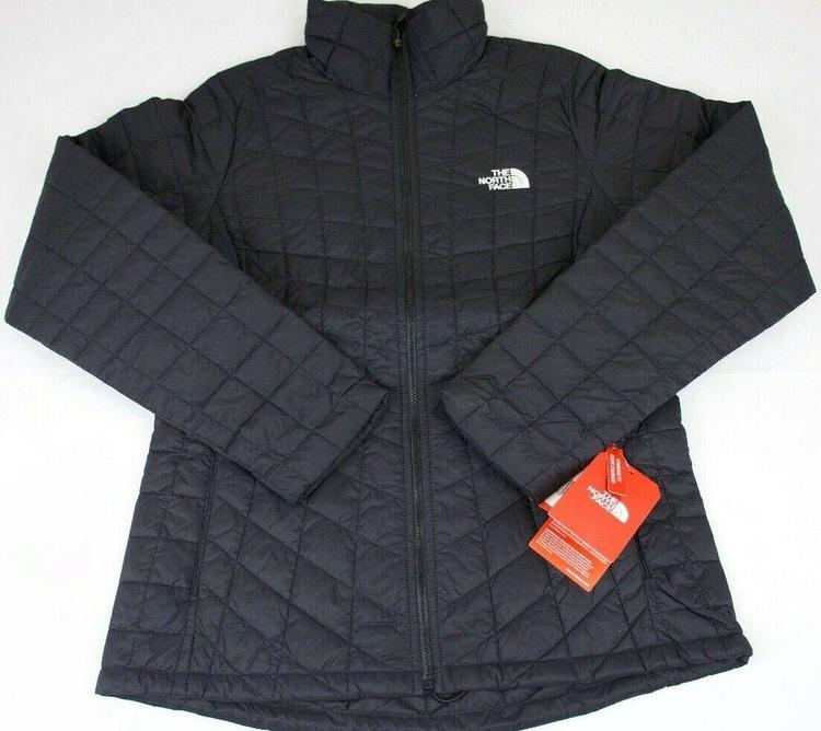 Womens The North Face Popular Thermoball Jacket Matte Black Msrp 199 Nwt