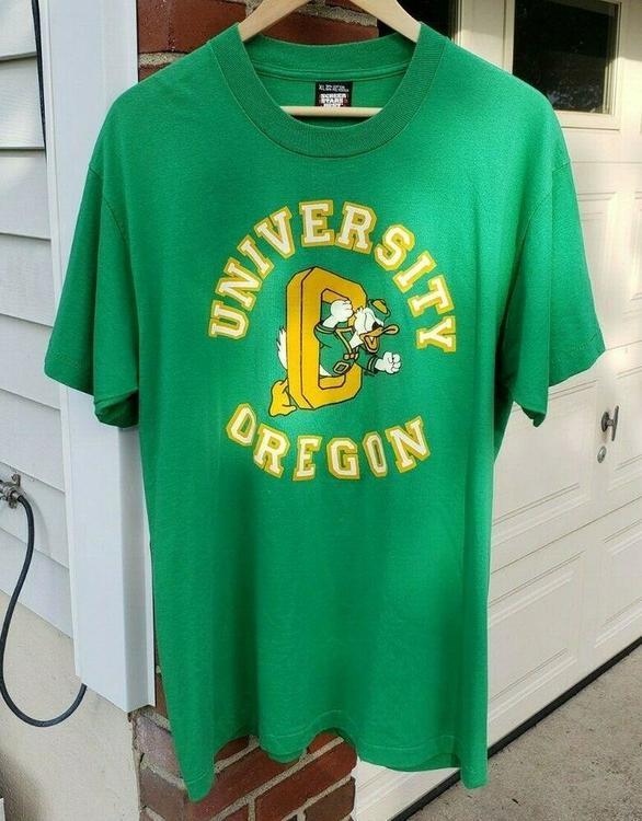 buy online 7435b 1311d VTG University of Oregon Ducks T-Shirt XL 1980s Screen Stars NCAA Vintage