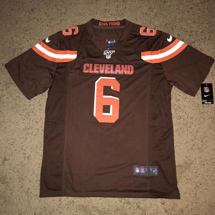 best sneakers 39c9a 898d8 Baker Mayfield Cleveland Browns Nike Jersey(L)