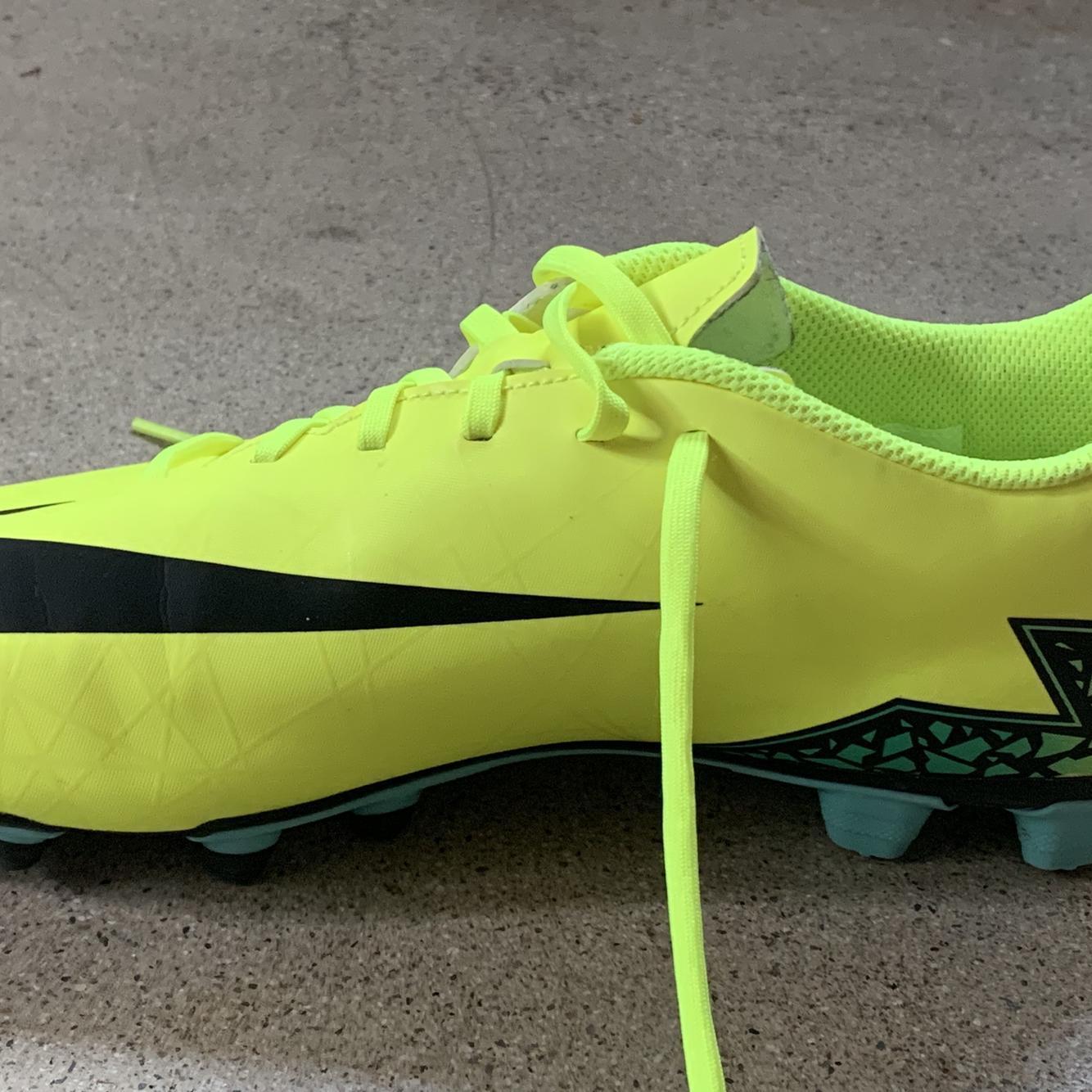 Nike neon yellow hypervenoms   Soccer