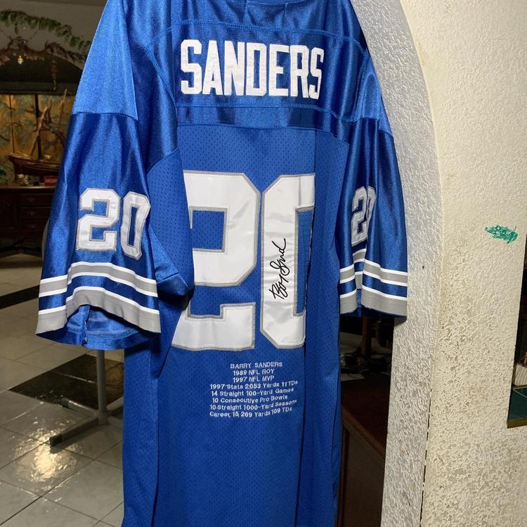 on sale 1e485 33297 Vintage Mitchell & Ness Detroit Lions Barry Sanders Jersey Size XXXL