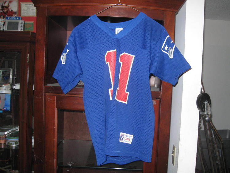 new styles 607f3 a9f75 NE PATRIOTS DREW BLEDSOE VINTAGE YOUTH HOME JERSEY(L) RARE!