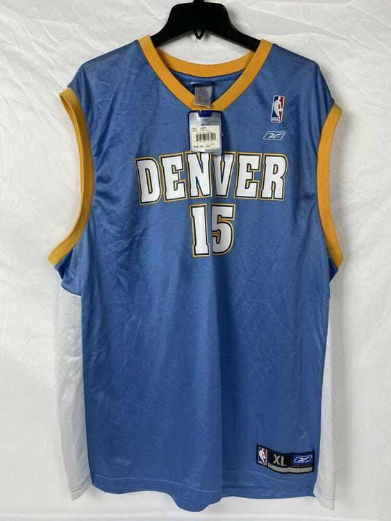 hot sale online fff82 6be6b Reebok NBA Denver Nuggets #15 Carmelo Anthony Blue Jersey Size XL With Tags