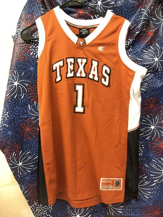 detailed look 2a758 1843f Texas Longhorns Basketball Jersey Size Yxl 138664