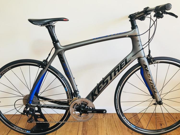 Carbon Fiber Bikes >> Kestrel Rt 1000 Road Bike City Hybrid Bike Carbon Fiber Shimano 105 Oval Wheels Like New