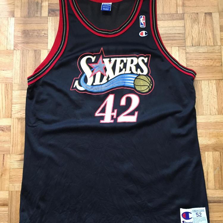 nowe obrazy jakość 100% jakości Jerry Stackhouse Philadelphia 76ers Champion Size 52 XXL Jersey