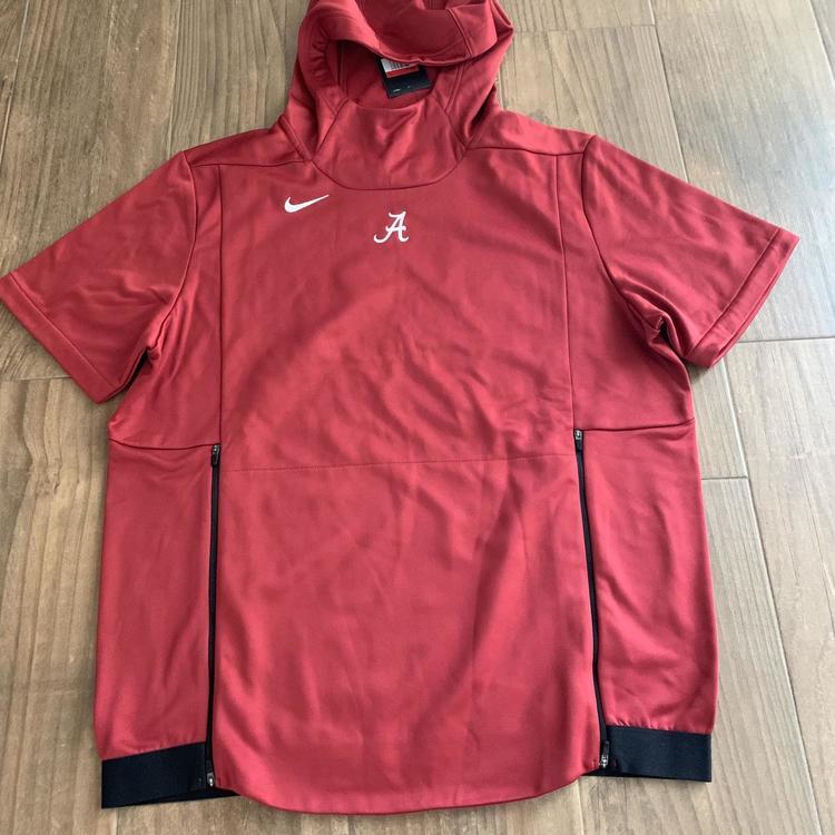Nike Mens Alabama Crimson Tide Lightweigth Hooded FlyRush Jacket Crimson.White-Black Size Large