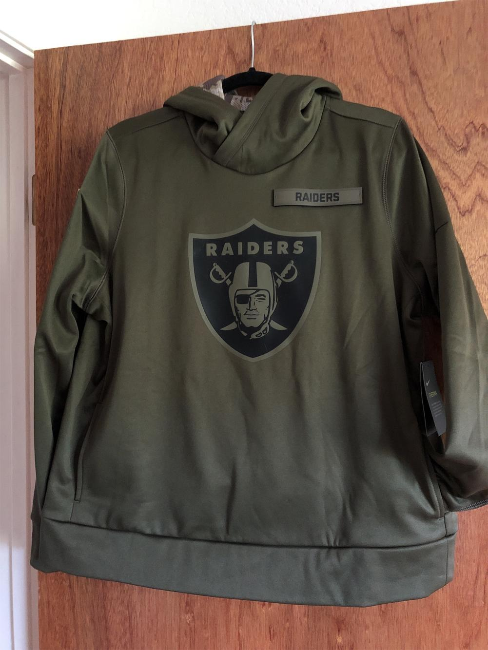 Women/'s Nike NFL Raiders Salute to Service Pullover Hoodie AA9948-395//Sizes