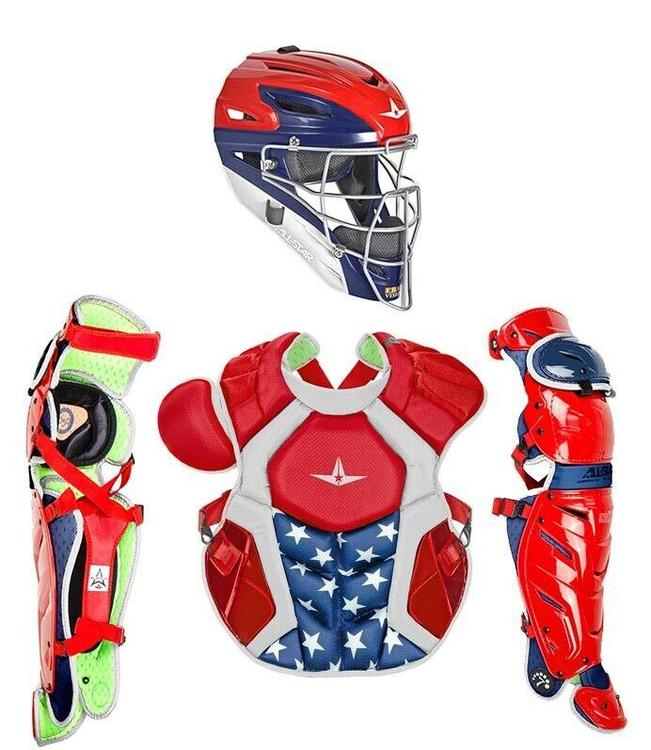 All Star System 7 Axis Usa Adult 16 Catchers Gear Set Nocsea Ckccpro1x Usa
