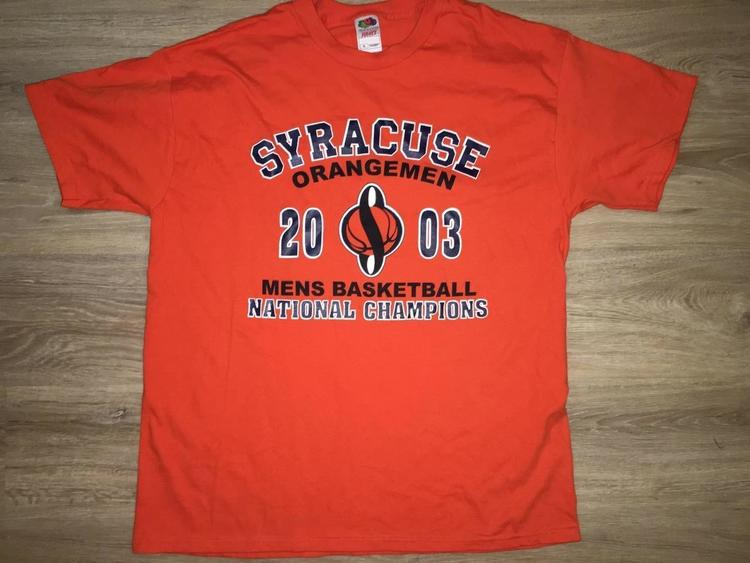 Xl New Vintage Syracuse Orangemen Real Champions Wear Orange National Championship Shirt