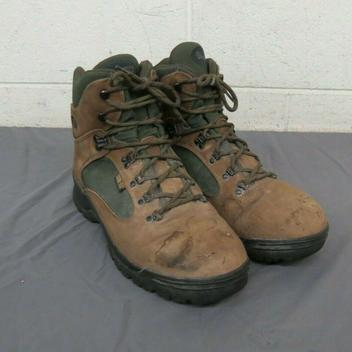 Merrell Wilderness Canyon Olive Leather Hiking Boots w