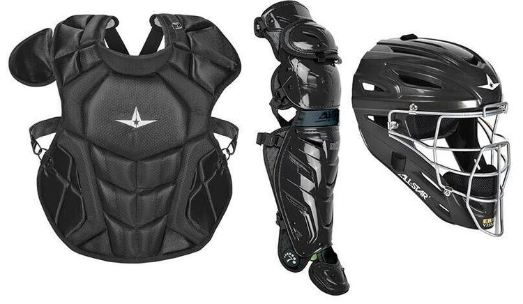 All Star System 7 Axis Intermediate 13 16 Catchers Gear Set Solid Black No Trade