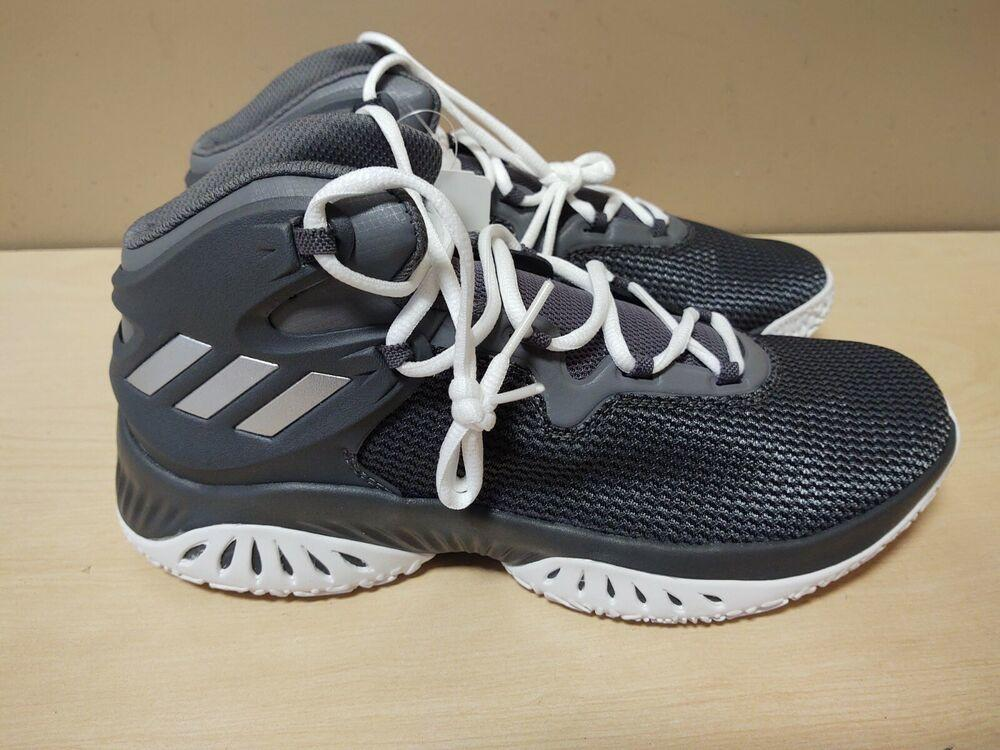 Adidas explosive Bounce Mens Basketball Shoes Basketball Shoes Grey SZ 9 BY3779