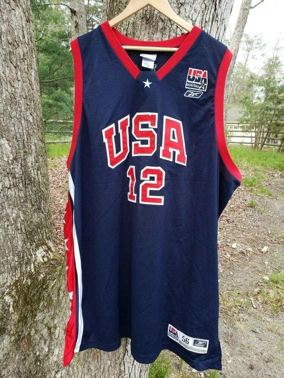 VTG Ray Allen Reebok Authentic Team USA Jersey Sz. 56 3XL Olympic RARE
