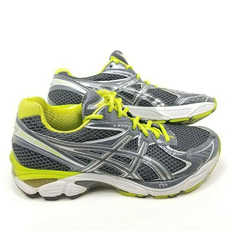 Asics Gel GT 2160 Womens Running Shoes Sneakers T154N Size 8.5 Grey Gray Green
