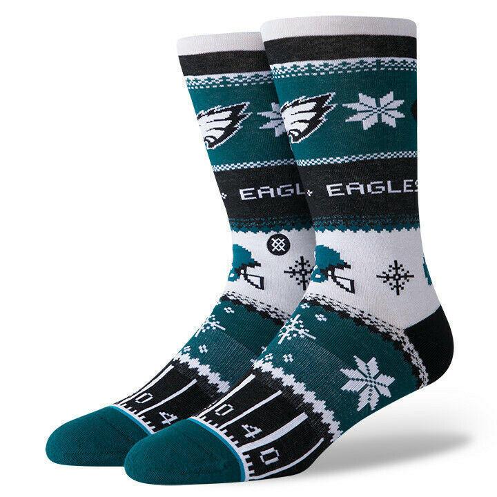 Philadelphia Eagles Stance Nfl Ugly Christmas Sweater Crew Socks L Men S 9 12