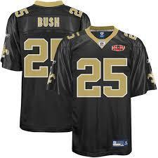 Reebok Reggie Bush Saints Jersey