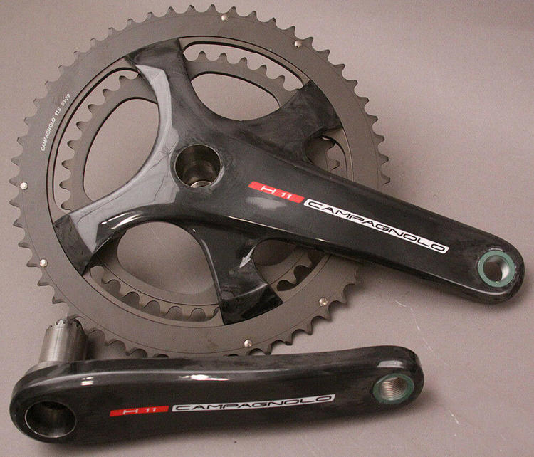 Campagnolo Record H11 Carbon Crankset 175 34//50 Chainrings 11 Speed MSRP $720